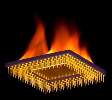 CPU em chamas