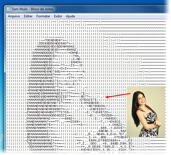 Veja as suas fotos em ASCII art