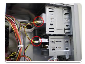 Desconecte a fonte dos demais componentes