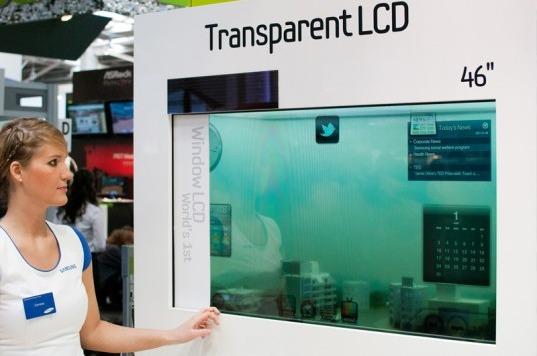 Telas transparente utilizam a iluminação ambiente como backlight