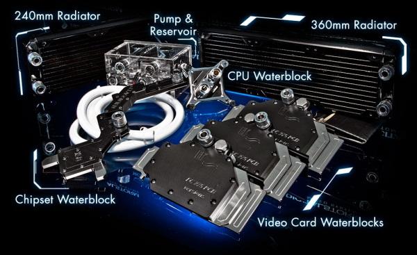 Sistema preparado para refrigerar placas de vídeo, CPU e chipset