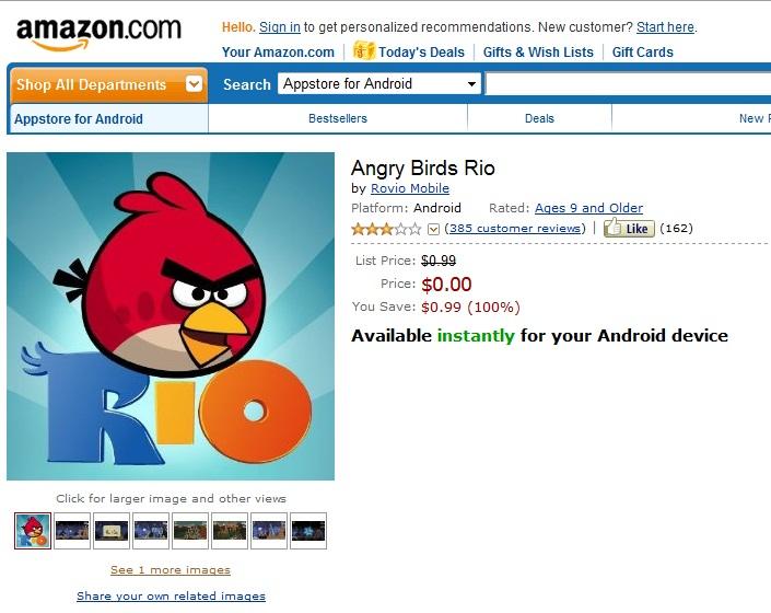 Loja da Amazon para Androids