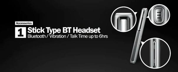 Stick Type BT Headset