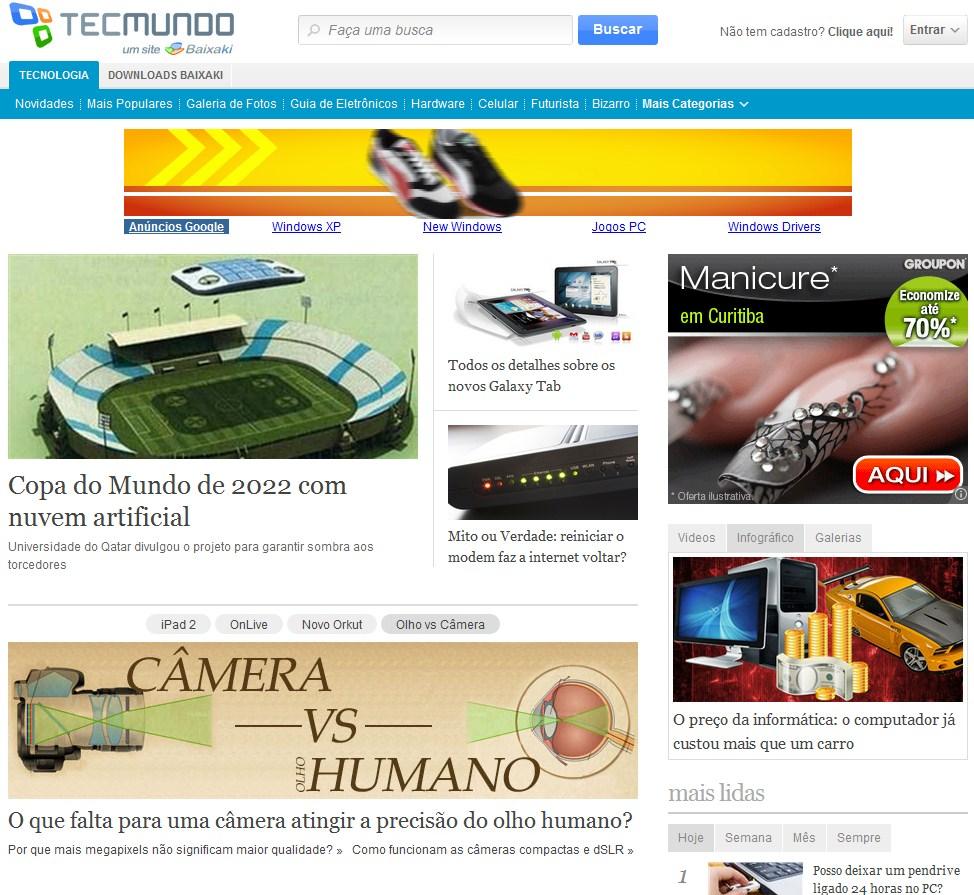 Conheça o novo site Tecmundo