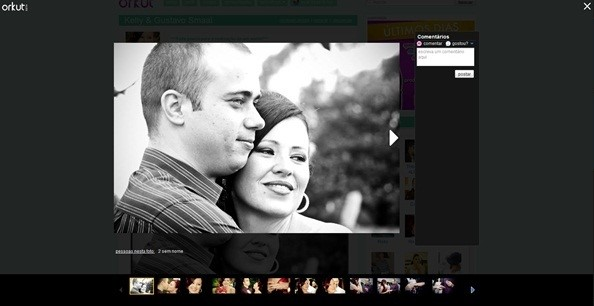 Novo visualizador de imagens do Orkut