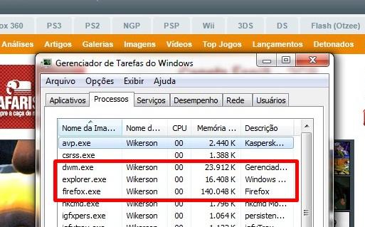 Consumo de memória cada vez menor no Firefox