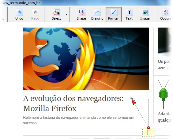 Tire e edite screenshots de sites inteiros