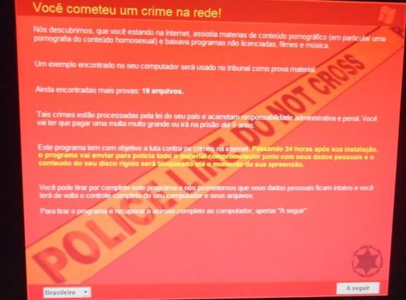 Malware que está atacando também o Brasil