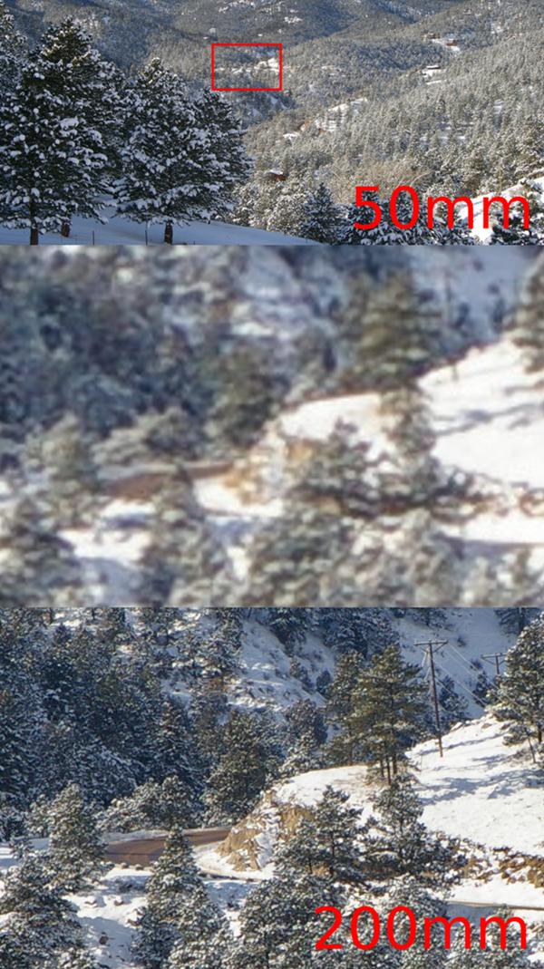 Note a diferença entre a segunda foto (zoom digital) e a terceira (zoom óptico)