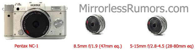 Primeiras imagens da câmera Pentax NC mirrorless