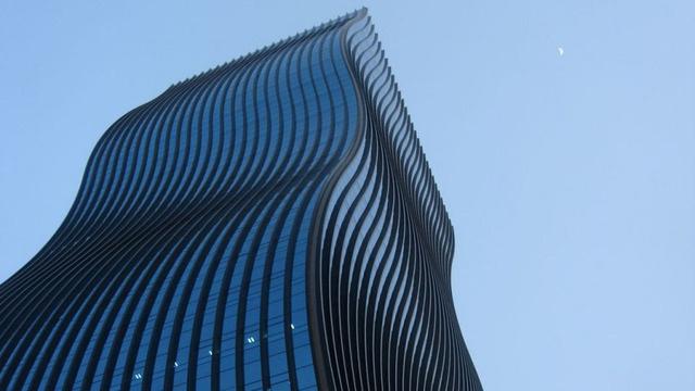 Arranha-céu ondulado em Seul