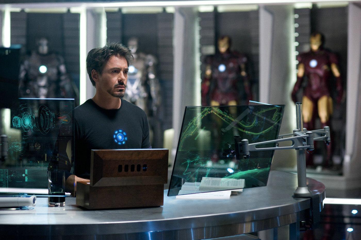 Cena do filme Homem de Ferro 2