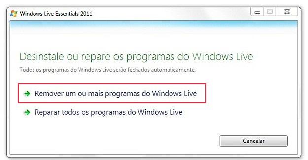 Remover programas