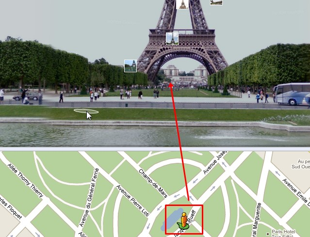 Saia do mapa e veja as imagens das ruas!