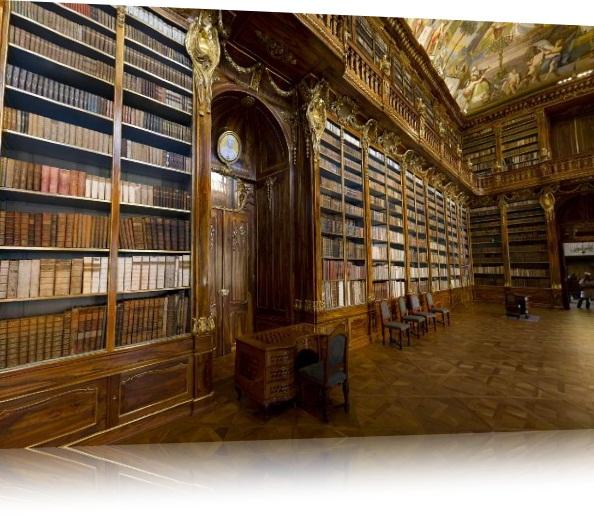 Detalhe da sala na biblioteca do monastperio de Strahov