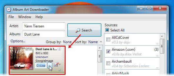 Faça a busca e salve os arquivos