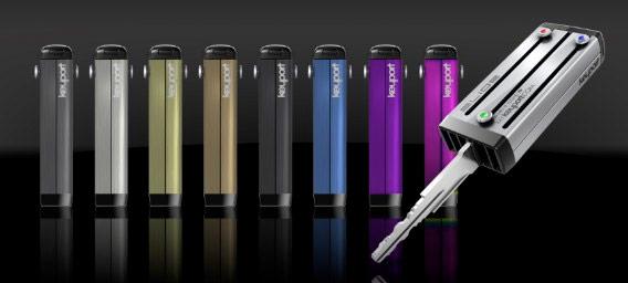 Oito cores disponíveis do KeyPort