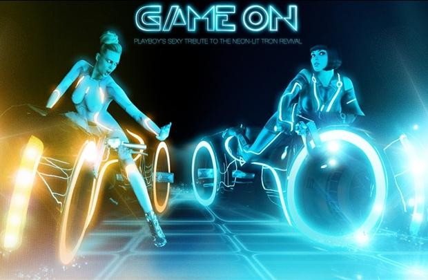 Playboy alusiva ao filme Tron
