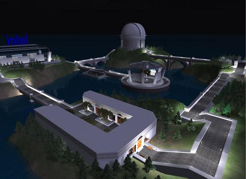 Imagem de um projeto da Intel desenvolvido no ScienceSim