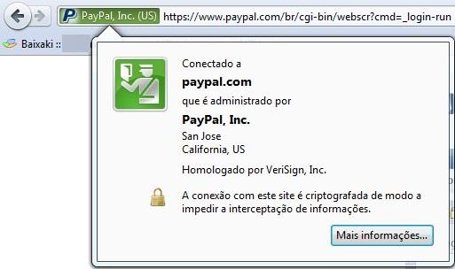 Site com certificação digital EV SSL