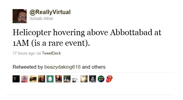 Tweet de Sohaib Athar.