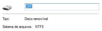Disco em NTFS