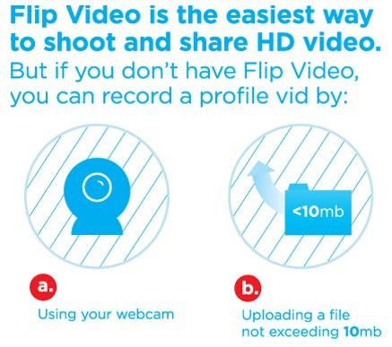 Capture da webcam ou envie do computador