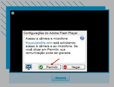 Permita que o Flip Your Profile use a sua webcam