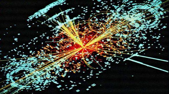 Evento simulado em acelerador de partículas