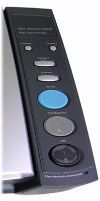 Dos botões do Book Reader, só os três últimos funcionam.