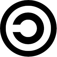 Símbolo do Copyleft, satirizando o Copyright.