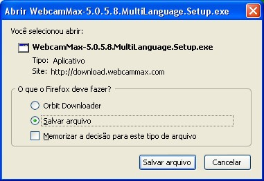A tela de diálogo de downloads do Firefox.