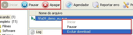 As maneiras diferentes para controlar os downloads.