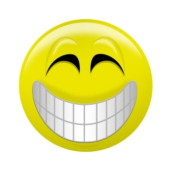 Emoticon sorridente.