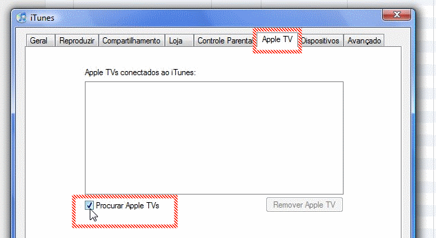 Desativando o Apple TV.