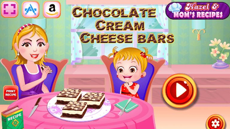 Imagem do jogo Hazel and Mom's Recipe - Chocolate Cream Cheese Bars