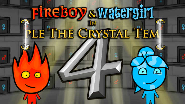 Imagem do jogo Fireboy & Watergirl 4 in The Crystal Temple
