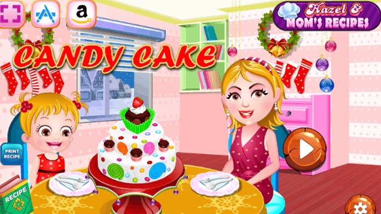 Imagem do jogo Hazel and Mom's Recipe - Candy Cake