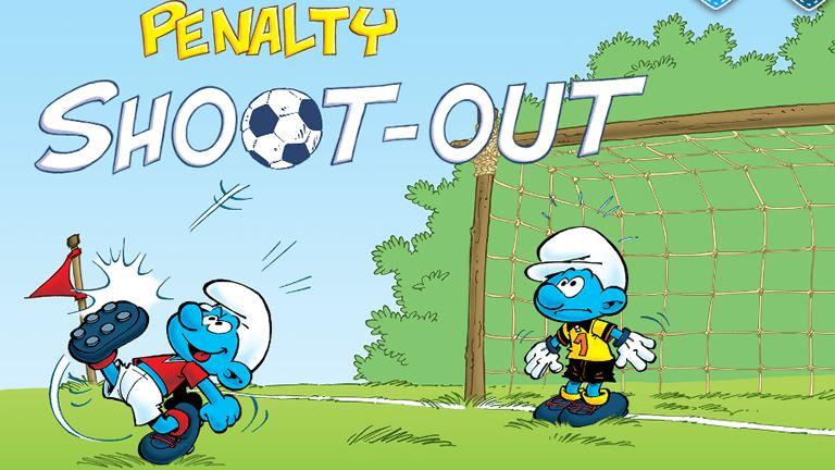 Imagem do jogo The Smurfs: Penalty Shoot-Out