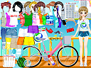 Cyclist Girl Dress Up