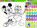 Colorindo Mickey e Donald