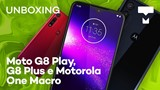 Moto G8 Play, G8 Plus e Motorola One Macro – Unboxing TecMundo